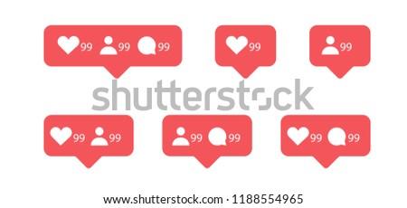 notification icon for social media application