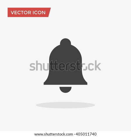 Notification Icon in trendy flat style isolated on grey background. Bell symbol for your web site design, logo, app, UI. Vector illustration, EPS10.