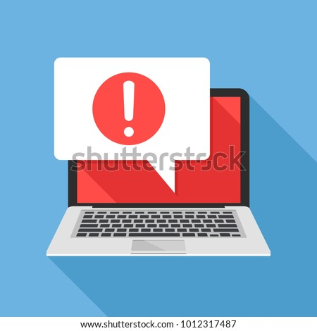 notification laptop and speech
