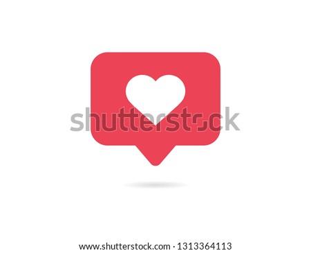 Notification Like icon. Social network app icon. Vector illustration