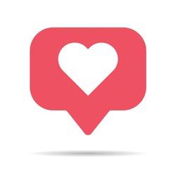 Notification symbol for application. Web app button for social media. Vector illustration icon .