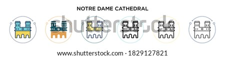 notre dame cathedral icon in
