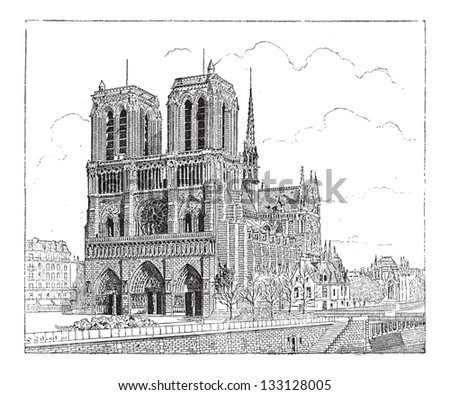notre dame de paris  in paris