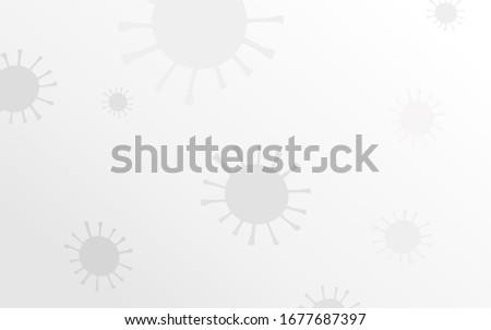 Novel Coronavirus symbol vector light gray background. Hand-drawn Sign 2019-nCoV, covid-19 on gradient background. Stylized medical illustration. Abstract virus model. Pandemic Coronavirus Banner Stock photo ©