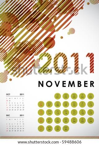 november calendar 2011. Calendar Design 2011