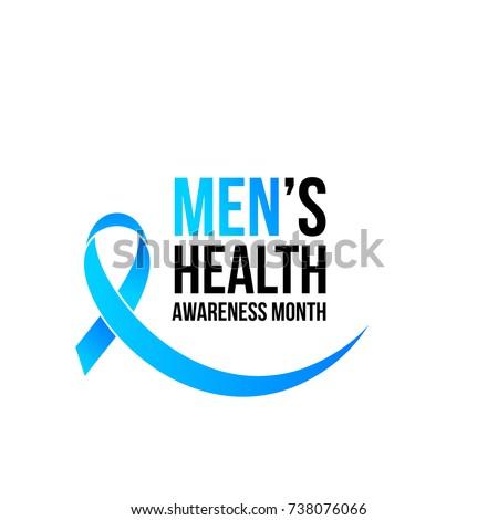 November men health awareness month poster or banner of blue ribbon. Vector no shave symbol for social solidarity event against man healthcare prostate cancer campaign
