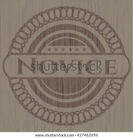 Novice retro wooden emblem