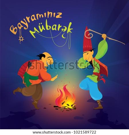 Novruz, Bayrami, Nevruz, Navruz, Characters, Kosa, Kechel, Bahar, Semeni