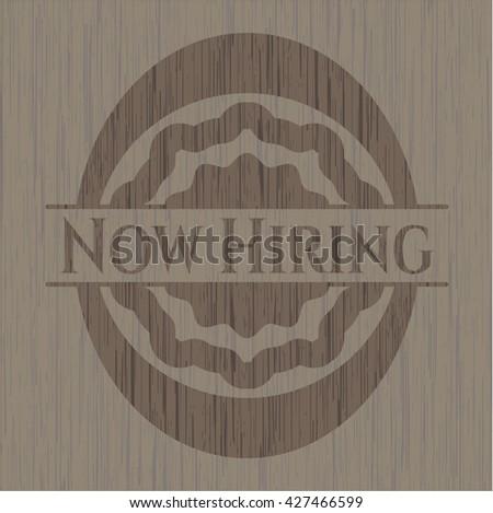 Now Hiring retro wood emblem