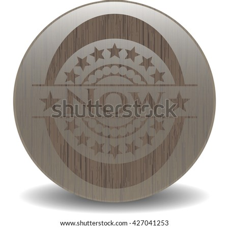 Now retro style wooden emblem
