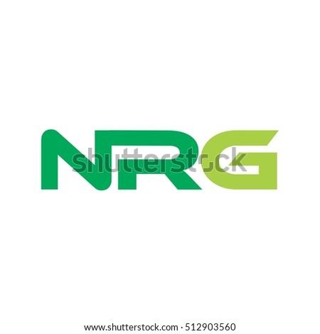NRG letter logo design vector
