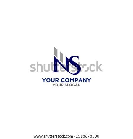 NS Accounting Logo Design Vector Stock fotó ©