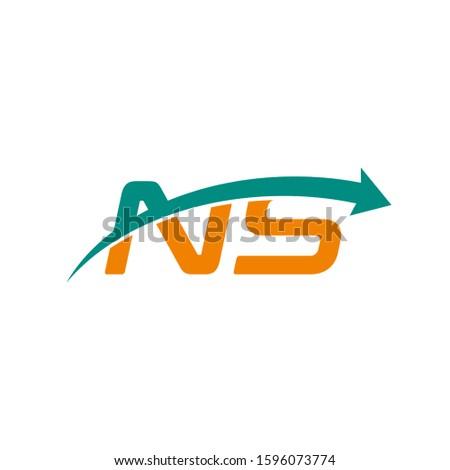 NS letter logo with arrow Stock fotó ©