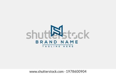 NS Logo Design Template Vector Graphic Branding Element. Stock fotó ©
