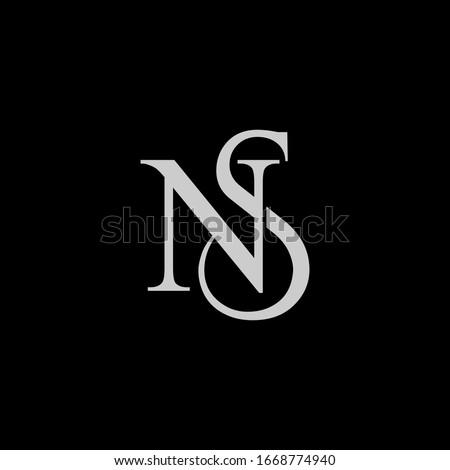 NS logo design. Vector illustration. Stock fotó ©