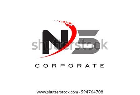 ns modern letter logo design