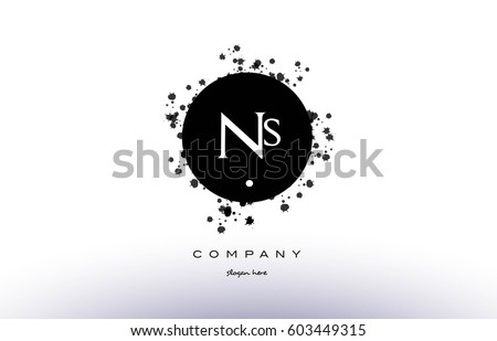ns n s  black white circle