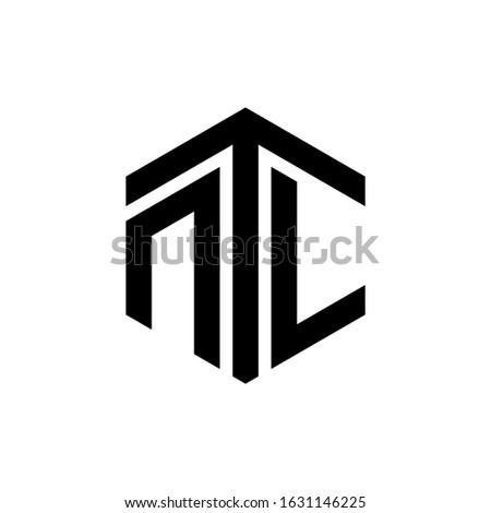 NTL Letter Logo Design polygon Monogram Icon Vector Template