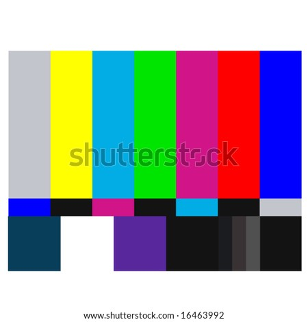 NTSC tv pattern signal for test purposes - also available as JEPG - stock vector
