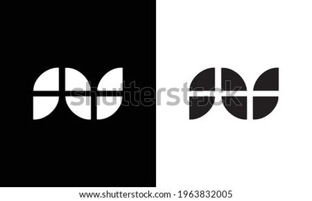 NU letter logo design on luxury background. UN monogram initials letter logo concept. NU icon design. Foto stock ©