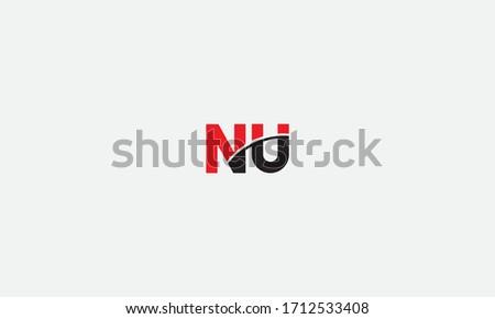 NU or UN letter logo. Unique attractive creative modern initial NU UN N U initial based letter icon logo Foto stock ©