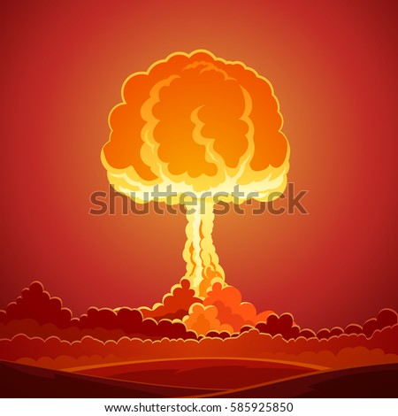 nuclear bomb explosion template