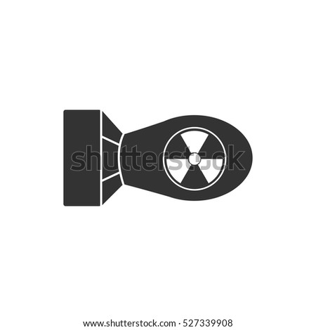 nuclear bomb icon flat