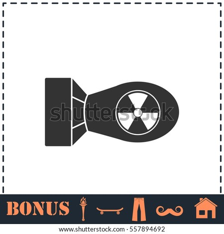 nuclear bomb icon flat simple