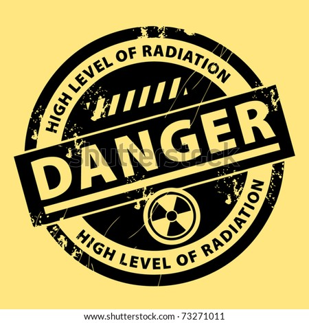 nuclear danger warning stamp