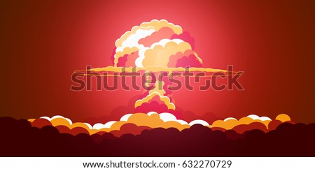 nuclear explosion cartoon