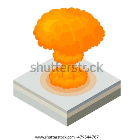 nuclear explosion icon in