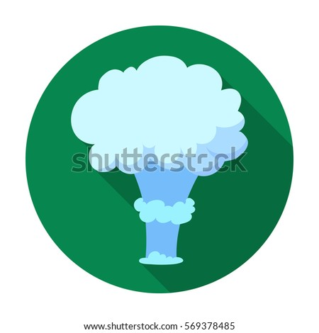 nuclear explosion icon in flat