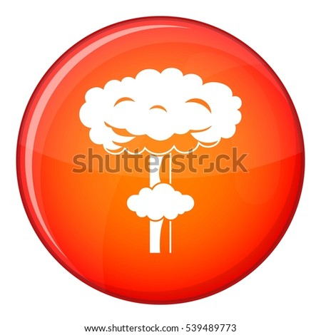 nuclear explosion icon in red