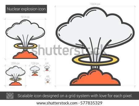 nuclear explosion vector line
