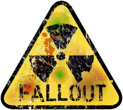 nuclear fallout warning sign, vector illustration