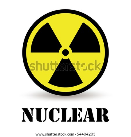nuclear icon isolated on white