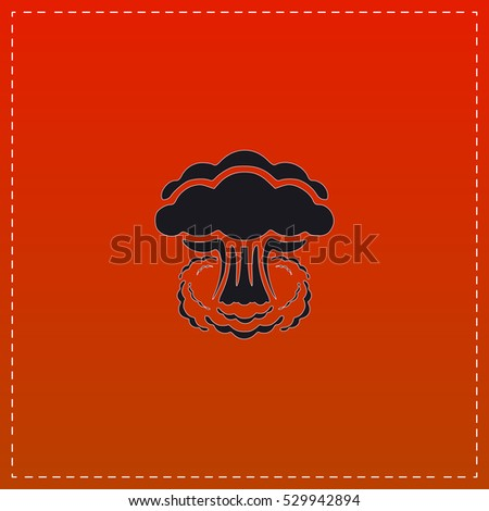 nuclear icon vector black flat