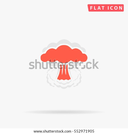 nuclear icon vector flat color