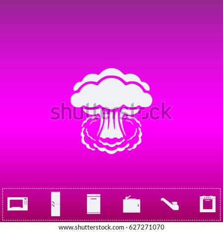 nuclear icon vector flat