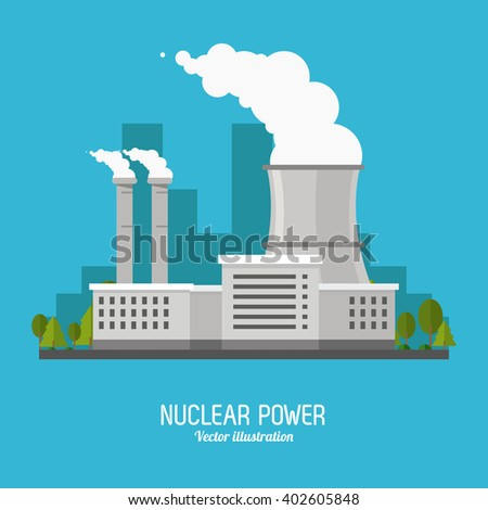 nuclear plant in colorful