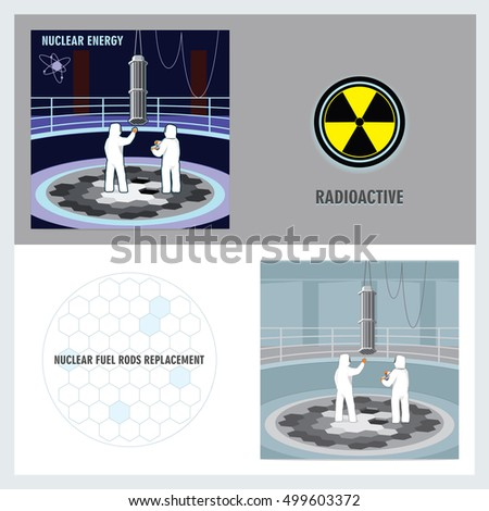 nuclear power concept atomic