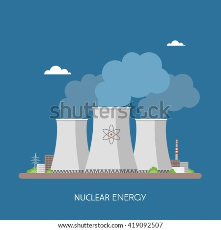 nuclear power plant and factory