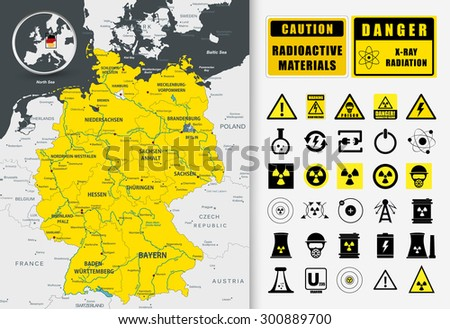 nuclear power plant map of