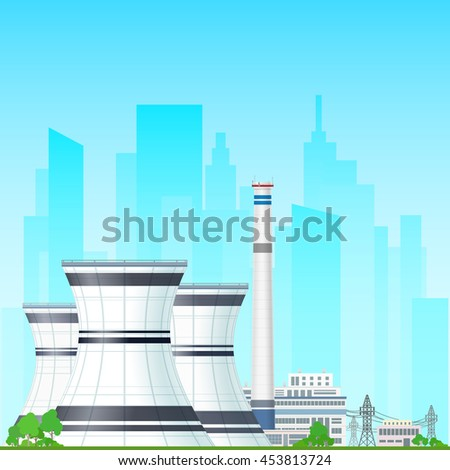 nuclear power plant on the