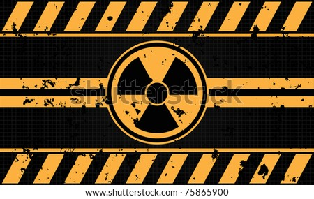 nuclear sign grunge background