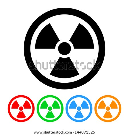 nuclear symbol icon vector with