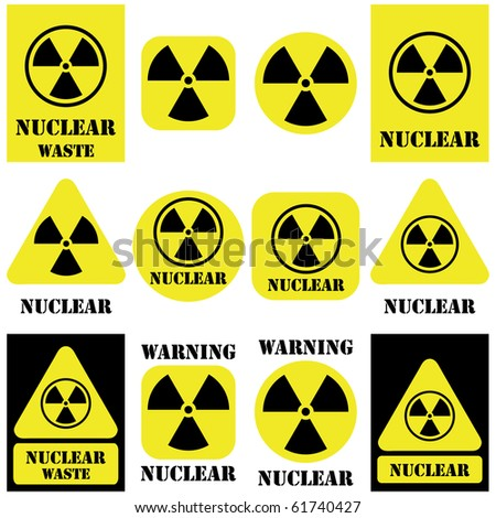 nuclear vector set isolated on