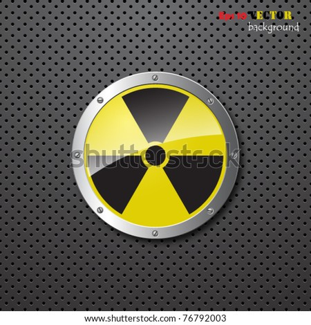 nuclear warning background - stock vector