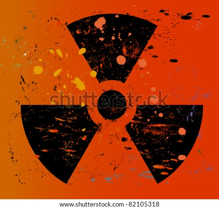 nuclear warning   grungy