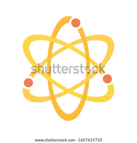 Nucleus, Neutron, Proton, DNA Atom Science Flat Icon Symbol Vector Illustration Background
